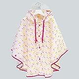 SWIHEL Regenmantel Kinder Regenponcho Regenjacke mit Kapuze Wasserdicht Regencape für Jungen Mädchen 4-10 Jahre Alt [ M ]