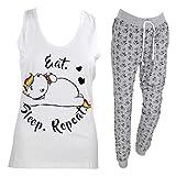 Pummel & Friends - Loungewear Set (weiß/grau) - Pummeleinhorn (Faulpelz) Größe M