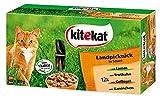 Kitekat Katzenfutter Frischebeutel Mix / Landpicknick in Sauce / Nassfutter Multipack für Katzen / 48 x 100 g Portionsbeuteln / Lamm, Geflügel, Kaninchen, Truthah