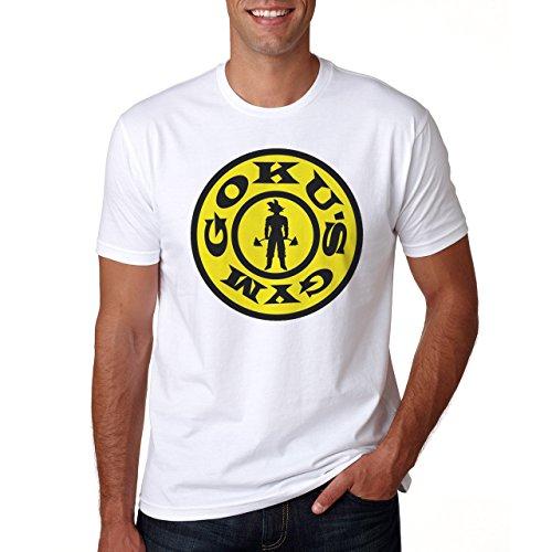 Goku's Gym Herren T-Shirt Weiß