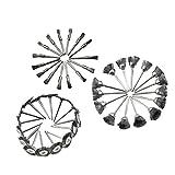 Homyl 45 Pcs Kit Di Ruote Spazzole Pulizie Metalliche Spolveratura Sbavatura Acciaio Inox Argento