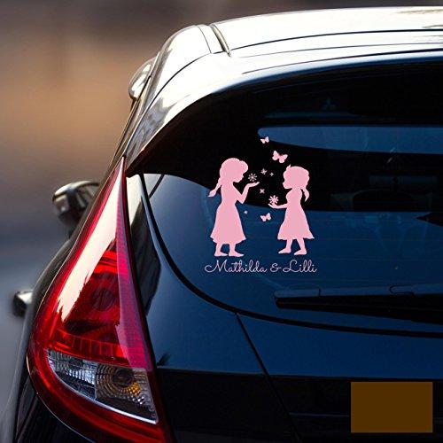 Auto Adesivo Posteriore Adesivo per auto adesivo Baby neve regina Frozen bambini M1872, Chocolate Brown, XL - 25cm breit x 35cm