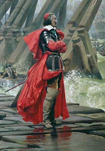 "Poster-Bild 50 x 70 cm: ""Cardinal Richelieu on the sea wall at La Rochelle, 1881 (oil on canvas) (detail of 153763)"", Bild auf Poster"