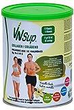 VNSup Colágeno con ácido hialurónico (40 mg), 30 tomas de 450 gr, magnesio, manganeso, Vitamina C. Colágeno bovino (10 gr). Sabor vainilla. Fortalece huesos, músculos, cartilagos, articulaciones y tonifica la piel