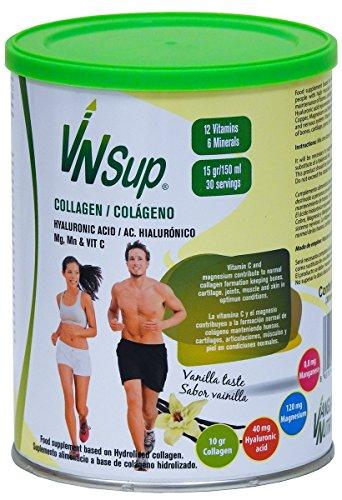 VNSup - Colágeno con Ácido Hialurónico (40mg) Magnesio Manganeso y Vitamina C