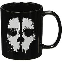 Call of duty Ghosts Taza Skull–Negro, impreso, de cerámica.