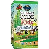 Garden of Life - Code Vitamine - pour Enfants - Aliments Entiers Multivitaminés à croquer pour Enfants - Goût...