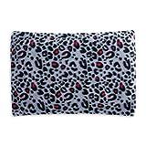 Cuscino fossa in ciliegio ecologico per il relax e il benessere | rivestimento sfoderabile in pile rosa Leopardo rosa | 350 grammi | 30x20cm | Modello 2020