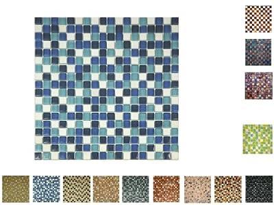 1 Netz Glassteinmosaik 15 Blaumix von Mosaikdiscount24 GmbH auf TapetenShop