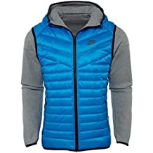 Nike Tech Men s Fleece Aeroloft Windrunner 614665-063 Blue Grey (2X-Large 8a49611231116