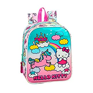 519xCQ09HrL. SS324  - Hello Kitty Candy Unicorns Mochila guardería niña Adaptable Carro