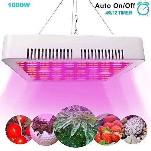 STYLINGCAR LED Pflanzenlampe 1000W Pflanzenlicht Vollspektrum LED Grow Light mit Automatische Timer