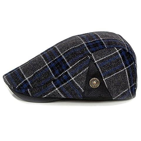 IamRTOM Striped beret, summer men's outdoor casual hat, striped curling