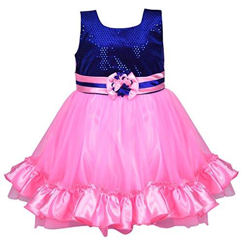 3b34365f188dc Wish Karo Baby Girls Party Wear Frock Dress DN fr130bpnk-2-3 Yrs ...
