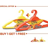 Happy to Hang Amaze 6+6 Piece Polypropylene Hangers, Yellow and Orange (Buy 1 Get 1 Free)