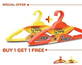 #3: Happy to Hang Amaze 6+6 Piece Polypropylene Hangers, Yellow and Orange (Buy 1 Get 1 Free)
