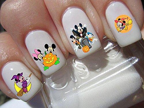 Mickey & Minnie Maus Halloween Scary Disney Nail Art Wasserrutsche Abziehbilder Nail Design Set # H4