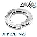 Zoro Tools–Rondelle a molla in acciaio inox A4B DIN127M20con sezione rettangolare 200Stk