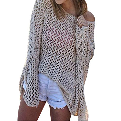 836395c7030c Copricostume Donna Mare all Uncinetto,Copricostumi E Parei Donna Manica  Lungo Traforato Crochet A Rete