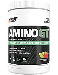 GAT Amino GT 390 g Strawberry Kiwi Aminosäuren Booster Pre Workout BCAA für Sport Bodybuilding Fitness