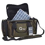 Q-Tac XC1 Angeltasche Robust u. Praktisch, Karpfentasche groß mit Vier Kunststoff-Boxen,...