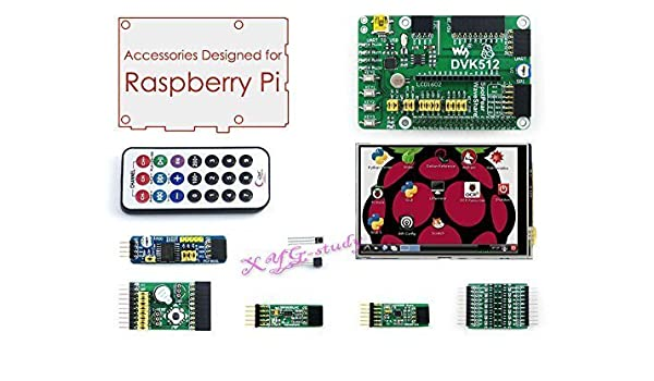 Raspberry Pi Accessories Pack A including DVK512 Expansion Board 3.5 LCD Modules