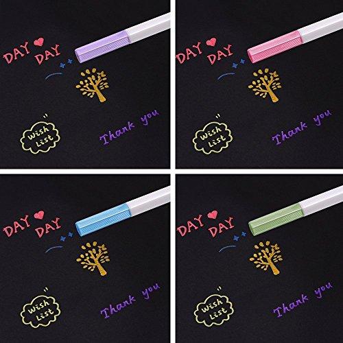 INIBUD Metallic Marker Pens, Satz von 10 Farben für Kartenherstellung DIY Fotoalbum Gebrauch auf irgendeiner Oberfläche-Papier Glas Kunststoff Keramik - 5