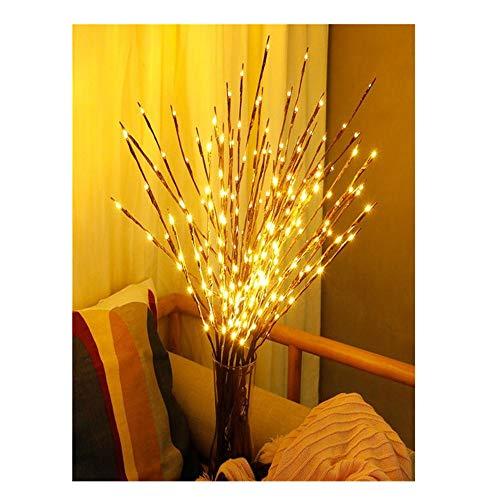 Kingko® 77 cm LED-Lichterkette aus Weide, 20 Lampen, warmweiß, batteriebetrieben, für Familie, Hochzeit, Garten, Hof, Garten, Familie, Weihnachten, Party B