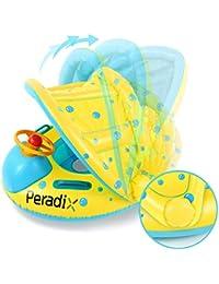 Peradix Baby Schwimmring mit Sonnendach Aufblasbares Kinderboot für Kinder ab 6 Monaten