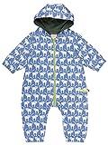 loud + proud Unisex Baby  Wasserabweisender Overall, Blau (Water Wa), 56 (Herstellergröße: 50/56)