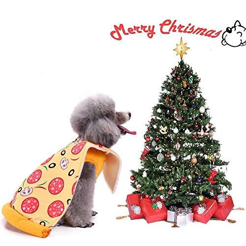 Pizza Dog Kostüm - WINNER POP Halloween Dog Pizza Kostüm, Super Funny Pizza Style Kleidung, geeignet für Weihnachten Geburtstag große, mittlere und kleine Hunde und Katzen