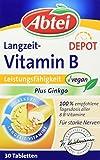 Abtei Langzeit Vitamin B Depot Plus Ginkgo, 30 Stück