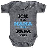 ShirtStreet Lustige Geschenkidee Muttertag Strampler Bio Baumwoll Baby Body kurzarm Junge - Ich bin süß, Größe: 3-6 Monate,Heather Grey Melange