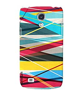 Omnam stipes printed back cover fabric pattern for Samsung Glaxy S4