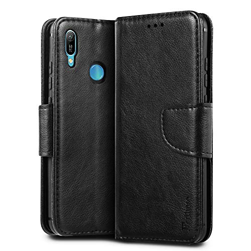 Price comparison product image Ferilinso Case for Huawei Y6 Pro 2019 / Huawei Y6 2019 / Honor 8A PU Leather Wallet Case with ID Credit Card Slot Kickstander Cover Stand Magnetic Closure Case (Black)
