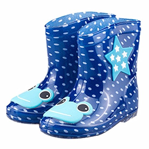 Siehin Kids Toddler Girl Boy Cute Cartoon PVC Rain Boot for Baby Child