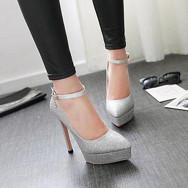 Moda Donna Sandali Sexy donna tacchi Primavera / Autunno Punta PU Esterni / Dress Stiletto Heel altri nero / rosso / Argento / Oro a piedi golden