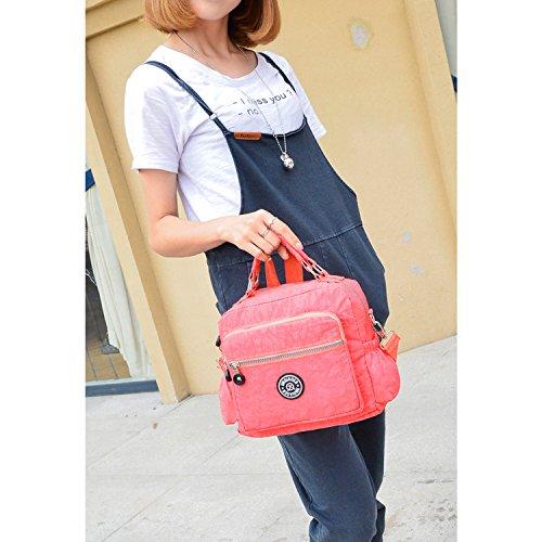 MeCooler Umhängetasche Damen Taschen Designer Kuriertasche Wasserfeste Handtasche Messenger Bag Schultertasche Sporttasche für Mädchen Strandtasche Nylon Reisetasche Blau One