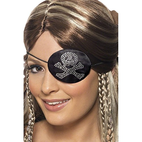 Augenklappe Piratenklappe Piratenaccessoires Piratenschmuck als Piraten Kostüm - Damen Piraten Kostüm Zubehör