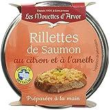 Les Mouettes d'Arvor Rillettes Saumon au Citron et à l'Aneth 125 g - Lot de 4