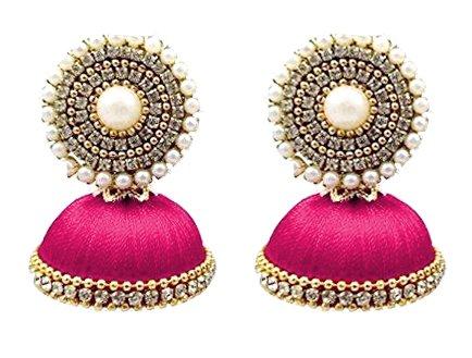 7e006ec05 20% OFF on New Pink Color Beautiful designer silk thread Earring Jhumka on  Amazon | PaisaWapas.com