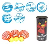 Speedminton FUN Speeder - 3er Pack Speed Badminton/Crossminton Einsteiger- und Kinderball