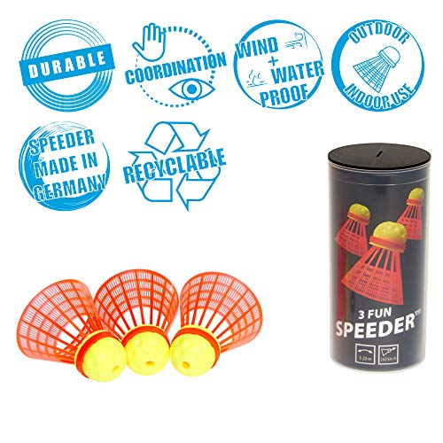 eeder® - 3er Pack Speed Badminton/Crossminton Einsteiger- und Kinderball ()