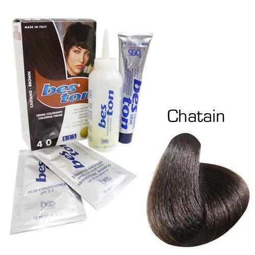 Kit coloration cheveux - Teinte Châtain
