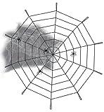 Spinnennetz Spinnen Netz Deko-Set Halloween ca. 90 cm