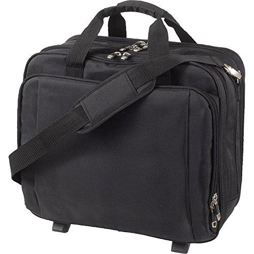HALFAR - Valise cabine sacoche trolley - compartiment pour ordinateur portable - JET - 1806700 - coloris noir