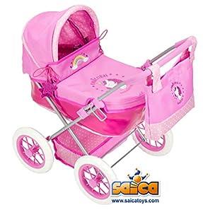 Saica- Carro Cuco, Color Rosa y Blanco (5550)