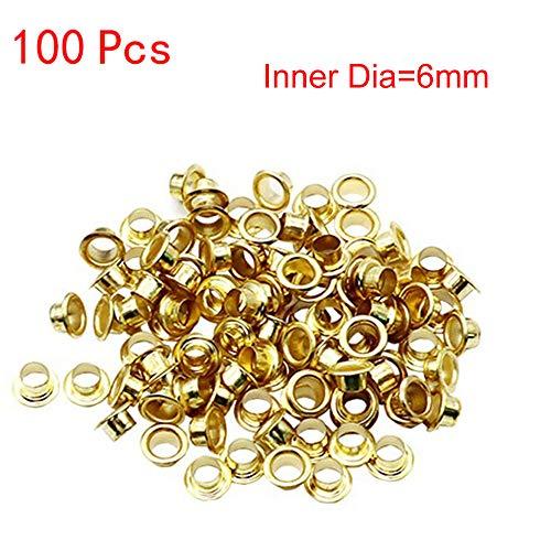 MA87 100 stücke titanium ösen washer leder diy schuhe tuch handwerk reparatur tülle (6mm)