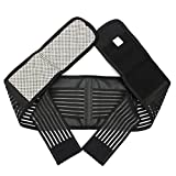 #9: Yellow, L : Adjustable Color Black Tourmaline Far Infrared Ray Self Heating Magnet Relieve LowBack Pain Health Waist Belt Support Strap Y011
