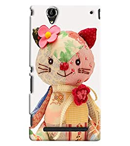 Clarks Multi Mix Teddy Hard Plastic Printed Back Cover/Case For Sony Xperia T2 Ultra